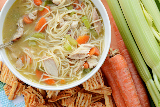 b77c72e05c389 This Chicken Noodle Soup is my kids' favorite for several reasons. They  love that it has big chunks of chicken, no onions (ha…they have some sort  of onion ...