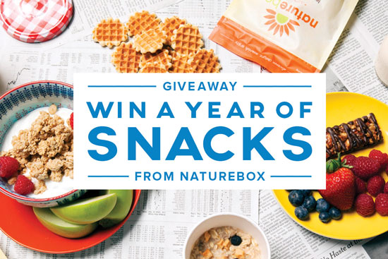 Click   here   for your chance to win a year of FREE snacks!