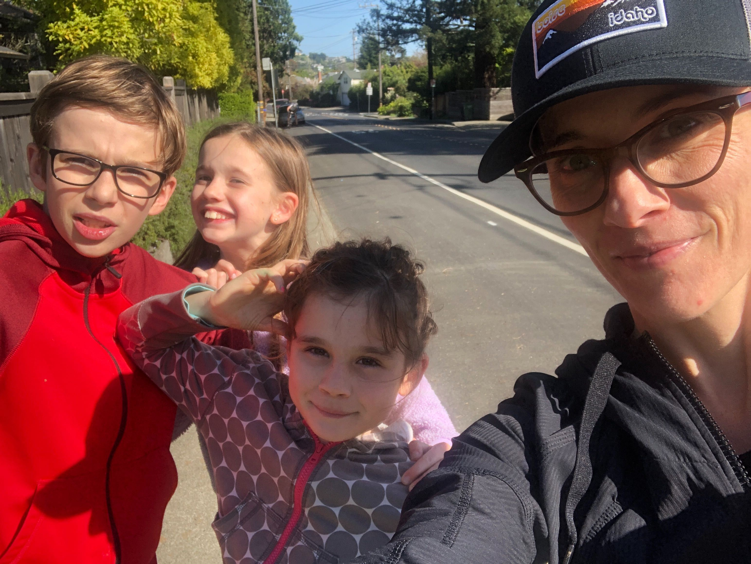 Taking a walk with the kids
