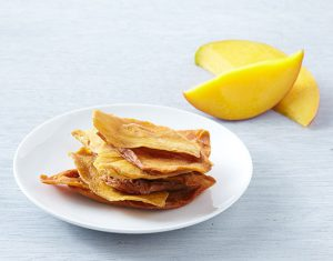 dried mango on plate