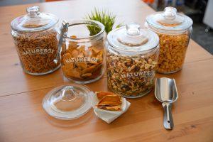 glass jars with naturebox snacks